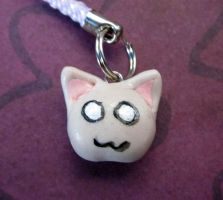 kitty face cell phone charm by carmendee