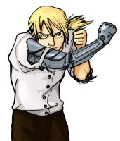 FMA: Ed fighting stance by ladymadeofglass