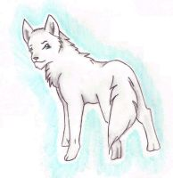 White Shep - Art Trade by JustRach