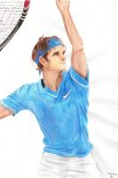 Roger serving - coloured by IcelectricSpyro