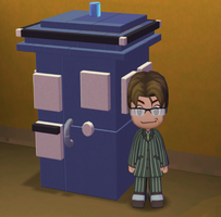 My Sims - 10th Doctor and the T.A.R.D.I.S. by adamantiumdevil