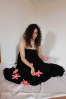 Black Dress and Flowers Stock 2 by EvilHateYouAllStock