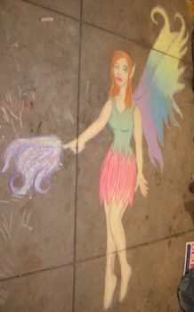 Chalk art fairy by AdmiralCookie
