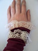 Victorian Lace-Velvet Cuffs by LeArmoire