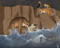 FireClan: Flood in the Gorge by TamHorse