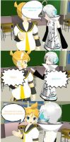 A Short MMD Comic - Len's Favorite Part 2 by peachylolli10