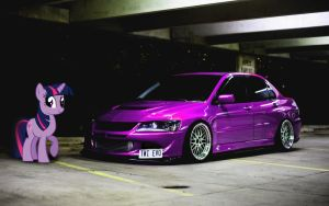 STANCEQUESTRIA - Twilight Sparkle Lancer Evo by NSDrift