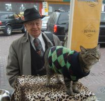 Pike Market Cat and Elderly by surrealistscat