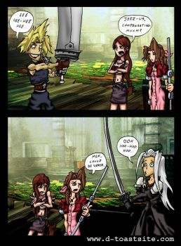 Final Fantasy compensating by Dshotinthefacepirate