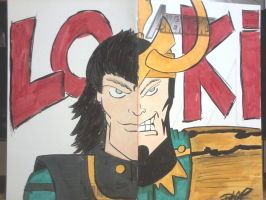 Loki Avengers sketch cover commission by XxPohGoxX