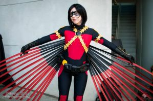 Female Red Robin Cosplay New 52 wings by Amberainbow