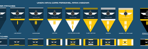 Union Navy Core Rank Insignia by EmperorMyric