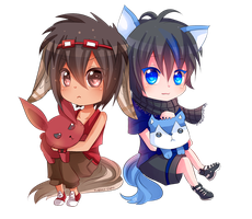 -- Chibi Commission for MiuSann -- by Kurama-chan