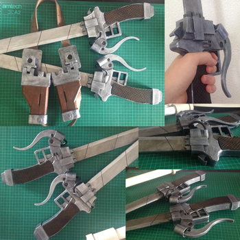 Attack on Titan: 3DMG WIP 6 by Gregggle