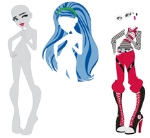 Monster High Ghoulia Yelps Base by SelenaEde