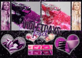 VIOLET DAYS - PSD. by SheWillBeFearless
