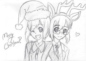Merry Christmas from the Hartmann twins! by TickleMeFrosty