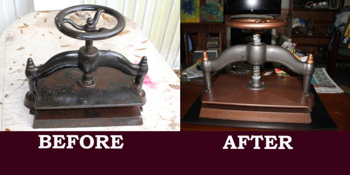 Restoring an old press by nibblywolf