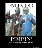 The Dark Side Pimpin' by BlackTshirtFan