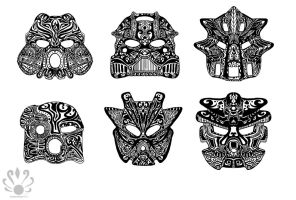 Tribal Toa Tattoos by Pearllight180