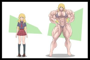 Kaere before and after by Nescaro