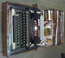 Steampunked typewriter 1 by gmagdic