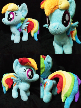 Mini Rainbow Dash Plushie For Sell! by astuyasiroh09