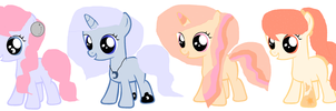 Moon and Sun Filly Adopts :) by Meadow-Leaf
