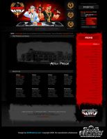 Web design: Music Battle by SOSFactory