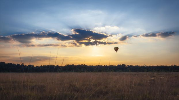 The Golden Hour of Ballooning by snomanda