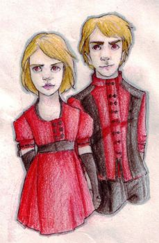 jane and alec - coloured by katiebroke
