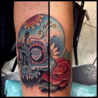 Sugar Skull Tattoo by Mikeashworthtattoos