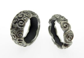 Snails Silver Rings by orfeujoias
