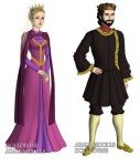 Queen Leah and King Stefan(Sleeping Beauty)outfits by sarasarit
