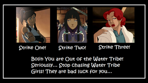 Bolin and Water Tribe Women... by freewolf17