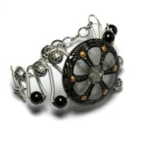 CyberSteam Bracelet Silver Black by CatherinetteRings