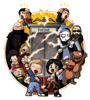 In Time - Bill and Ted shirt design by xkappax