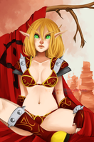Blood Elf in lingerie by Nasuki100