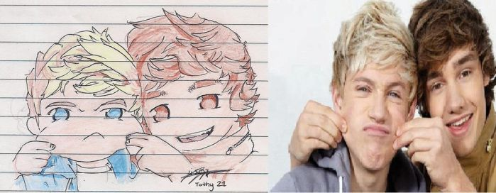 My Brother's Drawing of Niall and Liam by TracyPalafox
