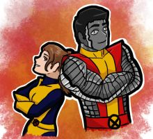 Kitty And Colossus by Nickyparsonavenger
