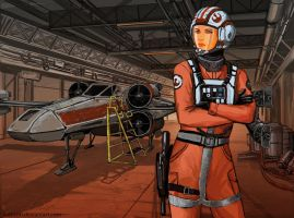 Rebel Pilot redesign by TheDrowningEarth