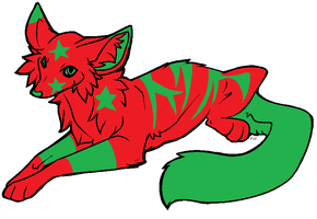 Christmas Fox (sold0 by BgDemonDog