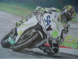 drawing a motorcycle.. Kenan Sofuoglu by blackblacksea