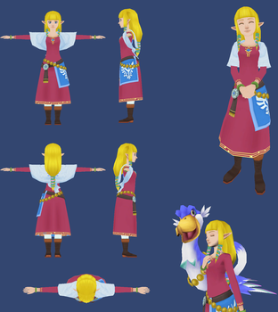 Skyward Sword: Skyloft Zelda Reference by ShrubbyNerb