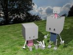 Robot Family Picnic by dirtyrascal