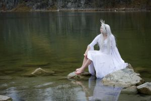 light fairy on water - stock by Liancary-art
