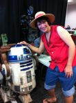 Luffy D. Monkey and a R2D2 at Geek Fest 2012. by BigJaa