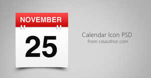 Awesome Free Download Calendar Icon PSD by cssauthor
