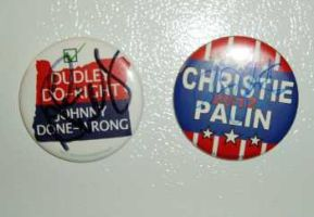 Chris Christie Campaign Button by Conservatoons