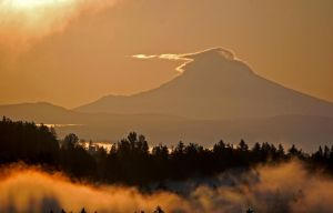 mount hood sunrise by brokk66